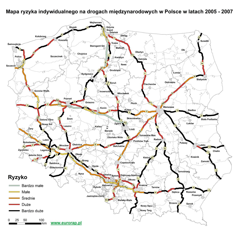 Atlas Bezpieczeństwa Ruchu Drogowego - ryzyko poruszania się po polskich drogach